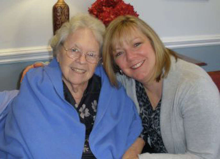 Kathie Nitz of Southbury, and her mother Doreen who was the inspiration for Nitz's creation of Caring Cards. Nitz will be the guest speaker at the New Milford VNA's Caring for our Community Breakfast on April 9. Photo: Contributed Photo / Danbury News-Times Contributed