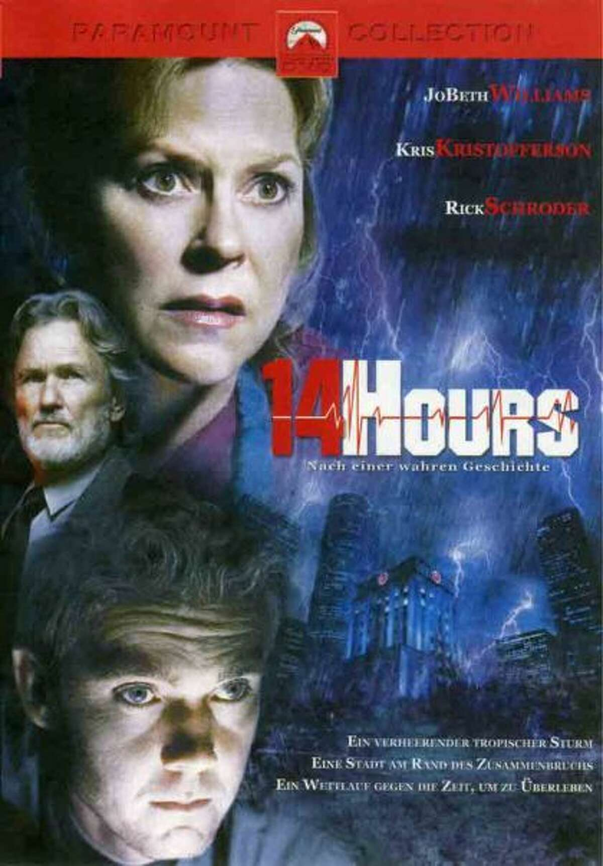 14 Hours , 2005, set in Houston. This film was set during 2001's Tropical Storm Allison and chronicles the work of emergency room doctors saving the lives of evacuated patients. Filmed in Canada, naturally, though it was set at Hermann Hospital. Decent cast though.