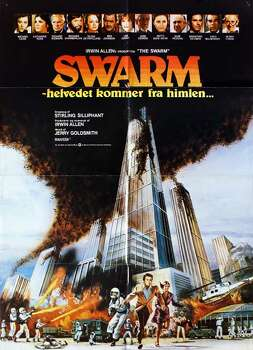 The Swarm, 1978, set in Houston.  Killer bees get trapped into the Astrodome and the air conditioning is turned on blast, killing them with the cold.