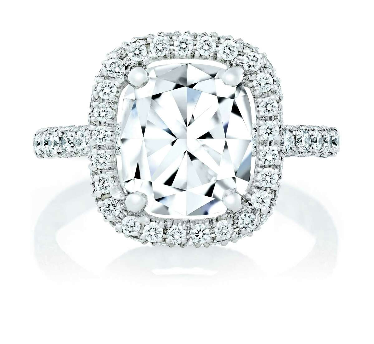 De Beers Aura Solitaire Ring is among the many choices of engagement rings at the new De Beers For You, Forever, iPad application. Available at De Beers Houston Galleria. www.foryouforever.com