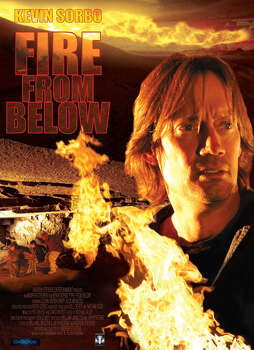"""Fire From Below, 2009, the city of Eustace is in harm's way.  Hunky Kevin Sorbo tries to stop some sort of explosion in Eustace, located just southeast of Dallas. The trailer was kind of dull. Directed by noted """"Skinemax"""" legend Andrew Stevens."""