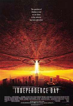 Independence Day, 1996, Houston gets bombed.  Boom goes Houston but the aliens remain.