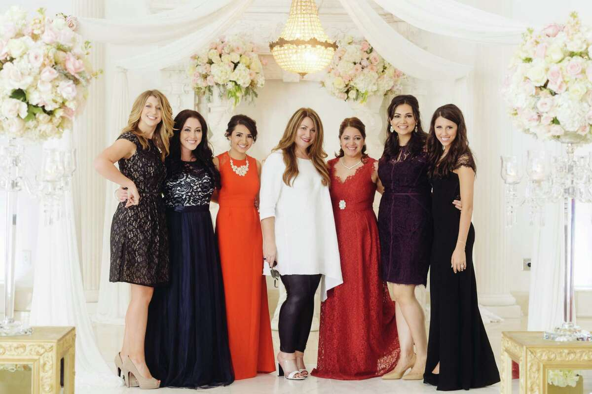 Ashlee Voda, from left, Amanda Hough, Sherry Alvarez, Grace Ormonde, Karen Martin, Lorena Macias and Dede Raad