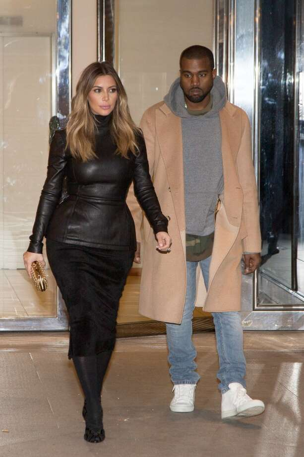 Kim Kardashian and Kanye West are seen on January 19, 2014 in Paris, France. Photo: Marc Piasecki, Getty Images