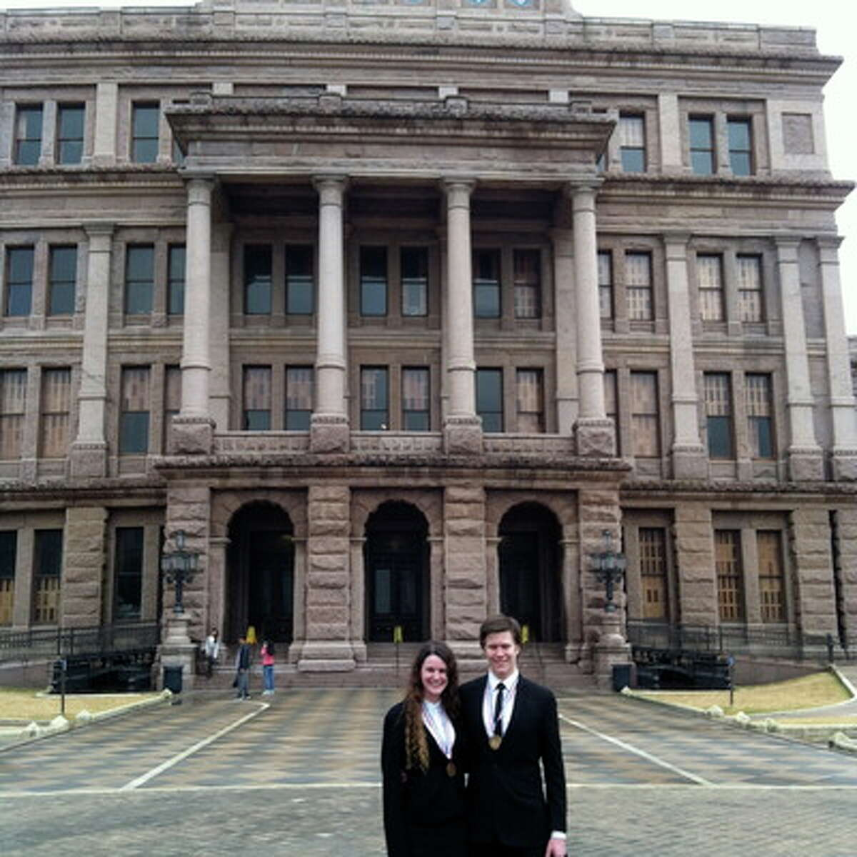 Daira Brayley and Kevin Hodge visit Austin for the University Interscholastic League State 4A Debate Championship.
