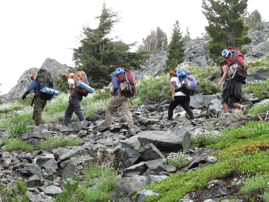 Students in the Woods Project hike the Donner Pass in California's Sierra Nevada. Photo: Courtesy Photo