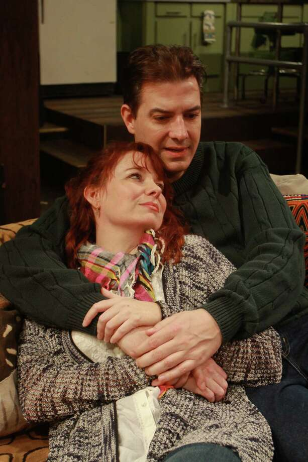 "(For the Chronicle/Gary Fountain, March 16, 2014) Sara Gaston as Sarah, and Sean Patrick Judge as James, in this scene from Main Street Theater's Houston premiere of Donald Margulies' play ""Time Stands Still."" Photo: Gary Fountain, Freelance / Copyright 2014 by Gary Fountain"