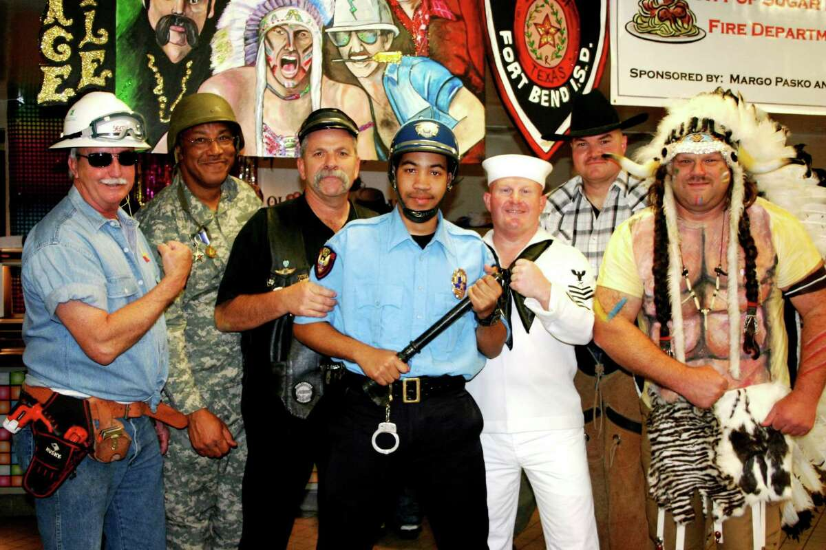 """The Fort Bend ISD police department, dressed as the Village People, won the award for """"best presentation."""""""