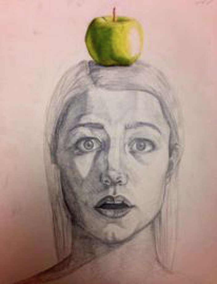"""Anticipation,"" a drawing in graphite and colored pencil by Molly O'Shea, is among artwork by 14 Staples High School students in an exhibition opening April 1 at the Westport Library. Photo: Westport News/Contributed Photo / Westport News"