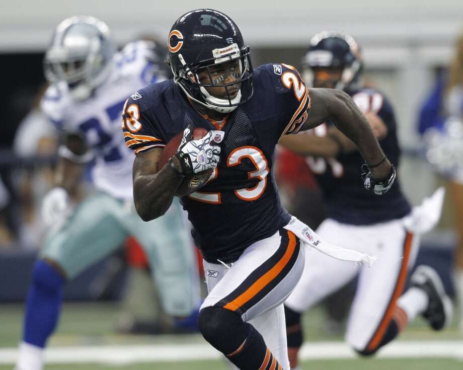 Devin Hester  Position: KR/PR/WR  Status: Signed with Atlanta Falcons Photo: Tim Sharp, Associated Press