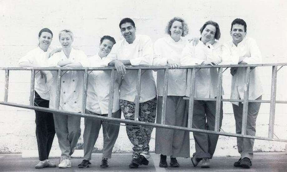 The 1994 class: Loretta Keller, Wendy Brucker, Traci Des Jardins, Michael Mina, Margie Conard and Dana Tommasino, Brad Levy