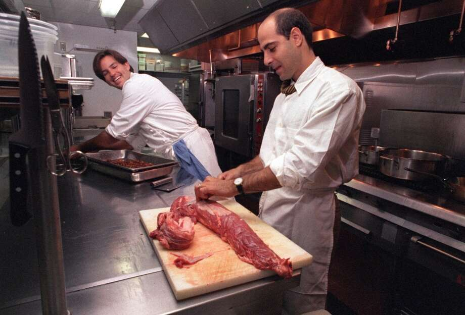 Laurence Jossel (left), 2000 Then: Chef at Chez Nous. Now: Chef-owner of Nopa and Nopalito. Photo: JERRY TELFER, STAFF