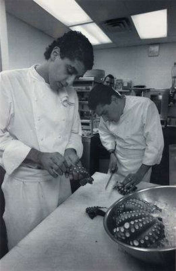 Michael Mina, 1994.  Then: 25-year-old chef de cuisine at Aqua.  Now: Chef-owner of dozens of restaurants across the country, including San Francisco restaurants Michael Mina, RN74 and Bourbon Steak.