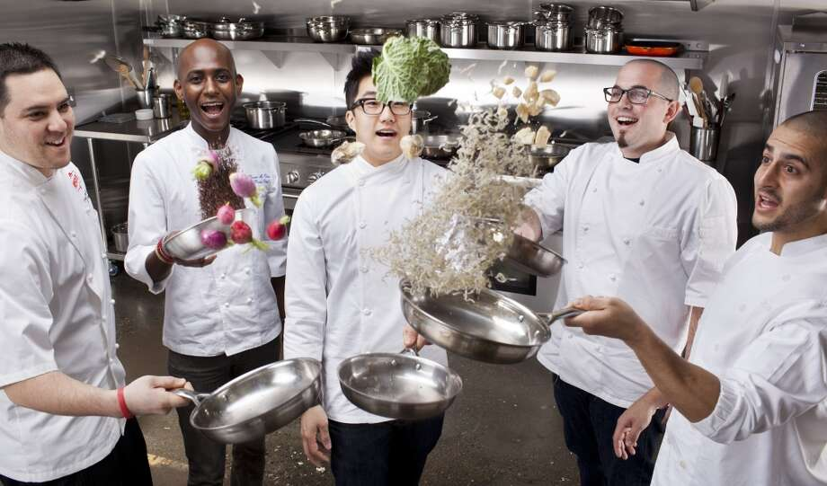 Last year's class: Kyle Itani, chef at Hopscotch; Devin Mc David, pastry chef at Quince and Cotogna; Mark Pensa, chef de cuisine at Acquerello; Robin Song, chef at Hog & Rocks; and Brandon Rodgers, chef de cuisine at Benu. Photo: Russell Yip, The Chronicle