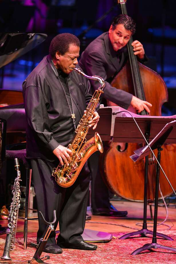 Wayne Shorter (left), John Patitucci and the rest of the Wayne Shorter Quartet will be at the SFJazz Center this week. Photo: Andy Sheppard, Redferns Via Getty Images