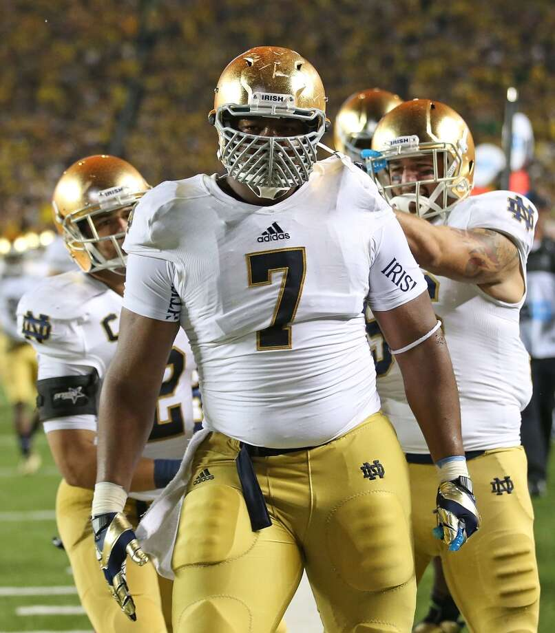 Stephon Tuitt | Defensive tackle/end | Notre Dame  CBSSports' Pete Prisco agrees, arguing that Tuitt's versatility makes him an attractive option for Seattle. At 6-foot-5 and 304 pounds, the former Fighting Irish star fits the bill physicall, and he's no stranger to the spotlight, either. Photo: Leon Halip, Getty Images