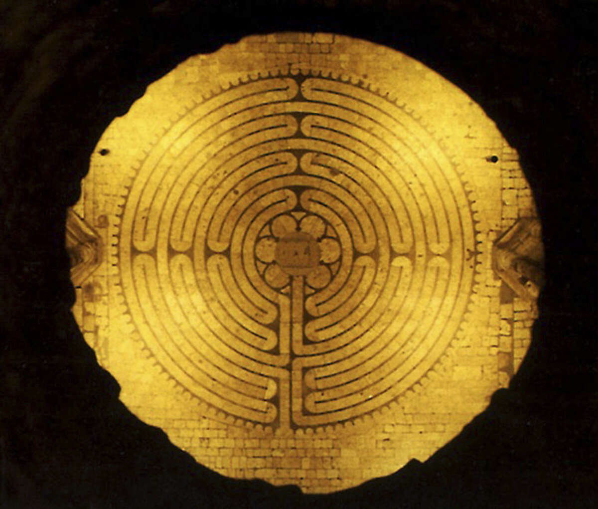 The Cathedral House Gallery Lenten exhibit will include a photo of the Chartres Cathedral Labyrinth in France.