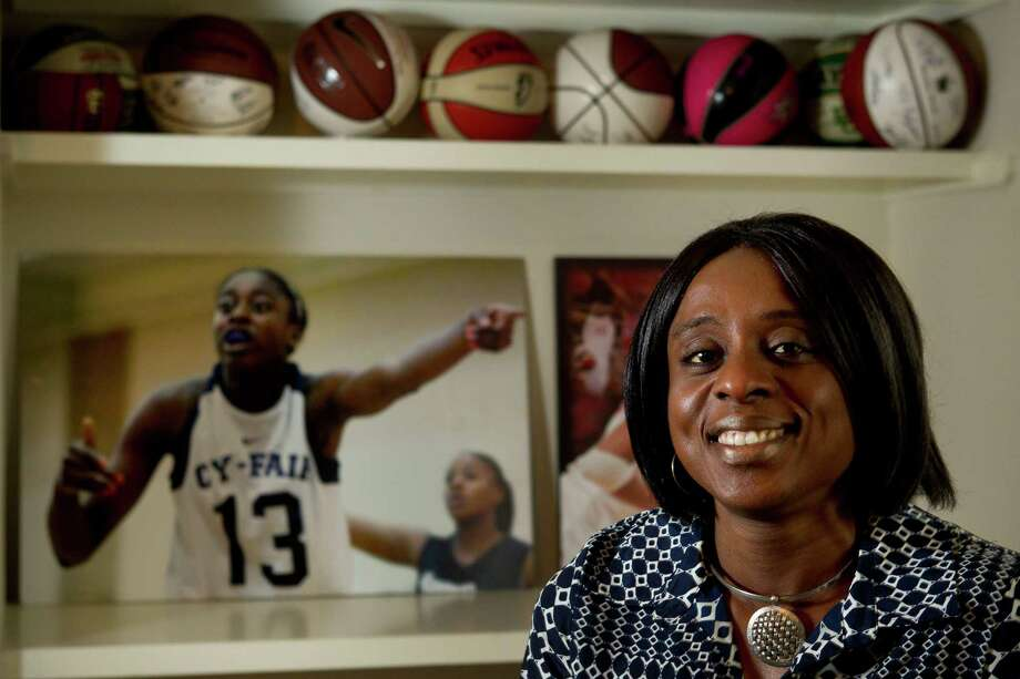 Ify Ogwumike, mother of Stanford forward and Cy-Fair product Chiney, says athletics were never pushed in the household - but she and her husband taught their daughters never to quit and to excel at anything they started. Photo: Brett Coomer, Staff / © 2014 Houston Chronicle