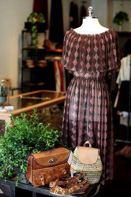 """Pretty Penny is a shop that sells vintage clothing.  Originally opened in Oakland,  the proprietor Sarah Dunbar, has opened a second location in San Francisco.  The new store sells more """"out there"""" pieces.  Pretty Penny in Oakland, Calif. on March 17, 2014."""