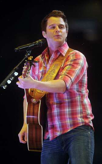 Easton Corbin performs at the Houston Livestock Show & Rodeo Friday March 21, 2014.
