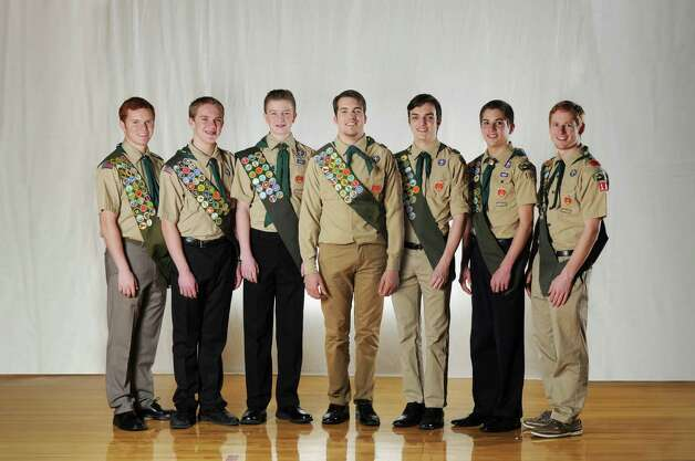 Seven young men from Boy Scouts of America Troop 101, chartered to The Church of Jesus Christ of Latter-day Saints in Glenville, will be honored as Eagle Scouts. They are Austin R. Bringhurst and Daken J. Broadhead of Glenville; Tanner J. Fugal of Burnt Hills; Austin W. L. Jensen, Dallas F. Jensen and Thomas J. Stevenson of Rexford; and Samuel R. Smith of Ballston Lake. The ceremony will be at 7 p.m. Tuesday at the LDS Church at 52 Blue Barns Road in Rexford.  To attain the rank of Eagle, Scouts must complete a rigorous program of several rank advancements, including 21 merit badges, leadership responsibility, and organizing and carrying out a significant community service project that includes leading other volunteers. Eagle service projects from this group included: building footbridges for an elementary school nature walk, painting and repairing playground equipment, organizing a charity 5K run, clearing church land for a new structure, creating and restoring hiking trails, and training volunteers to enter thousands of names from legal records for online access to genealogists.  In 2013, The Church of Jesus Christ of Latter-day Saints celebrated its 100th year as the first national chartered organization with the Boy Scouts of America, founded in 1910. Locally, the Glenville and Schenectady congregations of the Church have continuously sponsored Boy Scout Troop 101 for 58 years, since February 1956.  # # #  Photo credit: Jeffrey Grandon Photo: Jeffrey F. Grandon