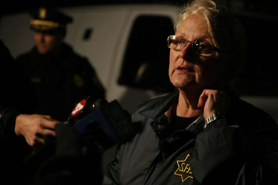 Deputy Police Chief Lyn Tomioka speaks to the press about the fatal incident. Photo: Codi Mills, The Chronicle