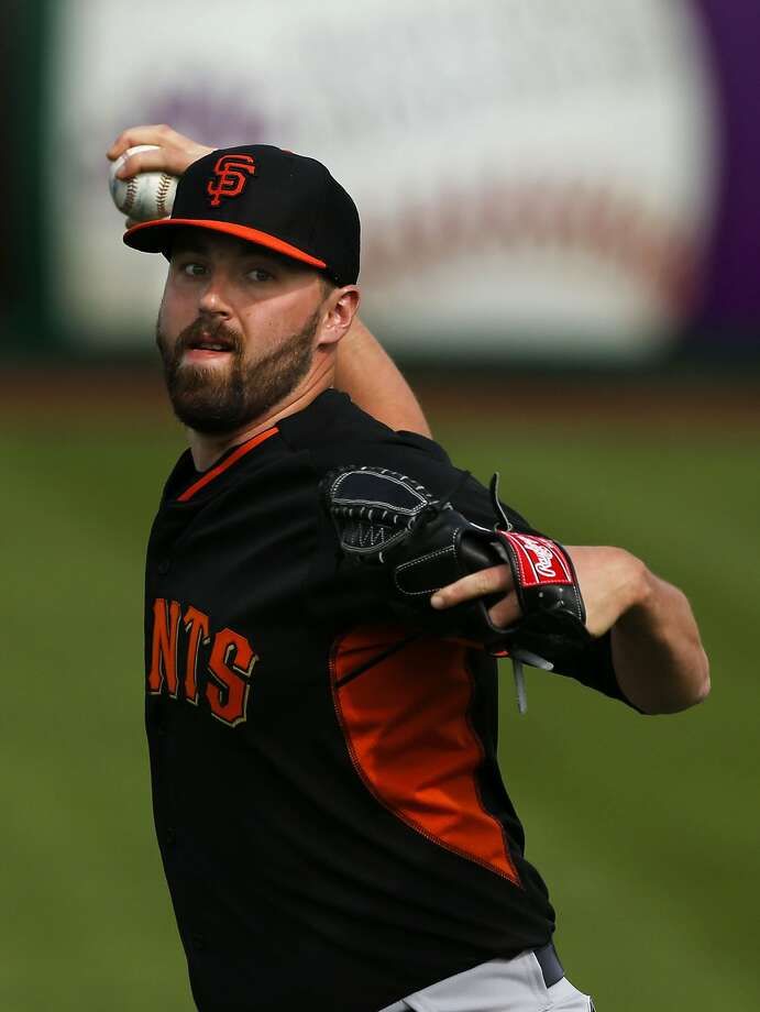 Heath Hembree threw well this spring, but the Giants elected to send him back to Triple-A so he can refine his secondary pitches. Photo: Michael Macor, The Chronicle