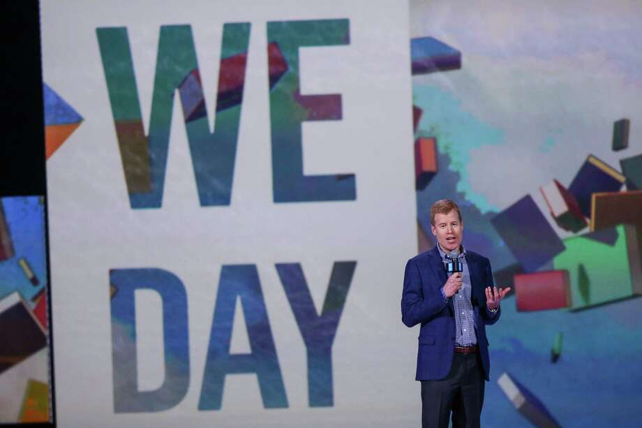 Erik Nordstrom speaks during We Day at KeyArena in Seattle. Thousands of young people came to the event. Spots were earned at We Day by students engaged in their communities. Photographed on Friday, March 21, 2014. Photo: JOSHUA TRUJILLO, SEATTLEPI.COM / SEATTLEPI.COM