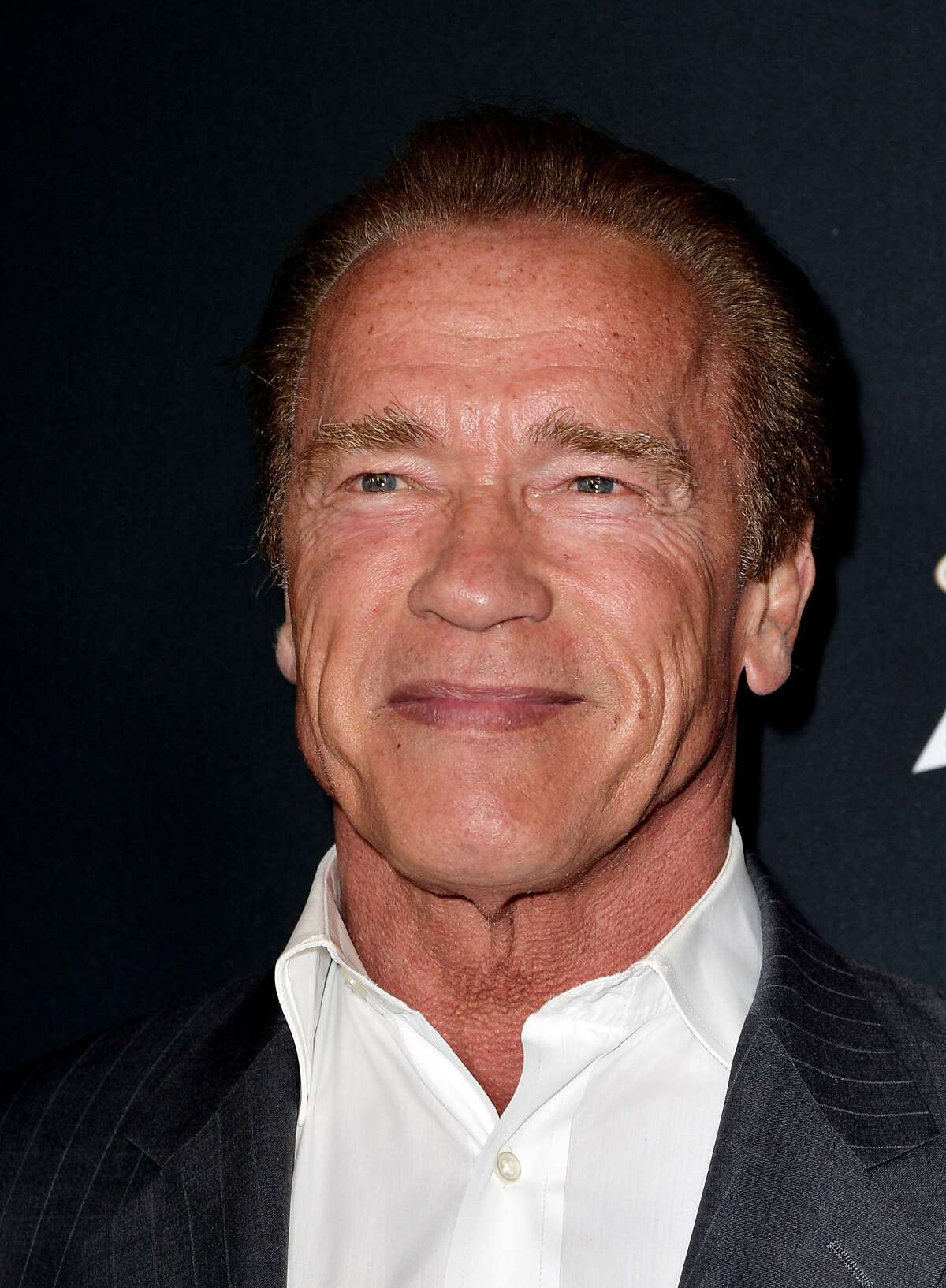 LOS ANGELES, CA - MARCH 19: Actor Arnold Schwarzenegger arrives at the premiere of Open Road Films'