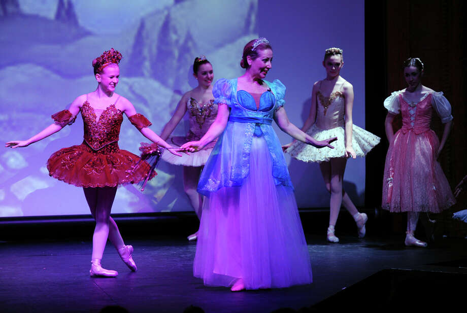 "The New England Ballet Company held its ""Ballerina Princess Party"" at the Bijou Theater in downtown Bridgeport, Conn. on Saturday March 22, 2014. The young girls who attended the shows at 11 a.m. and 2 p.m., danced with the ballerinas, and learned how to wave like a princess. Guests also learned a ""court"" dance with Princess Linda and how to make a Princess craft including tiaras. Photo: Christian Abraham / Connecticut Post"