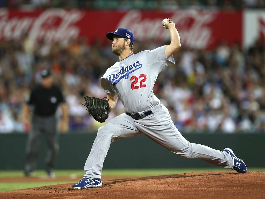 Clayton Kershaw, throwing his first pitch, allowed one run and five hits in 62/3 innings. Photo: Rick Rycroft, Associated Press