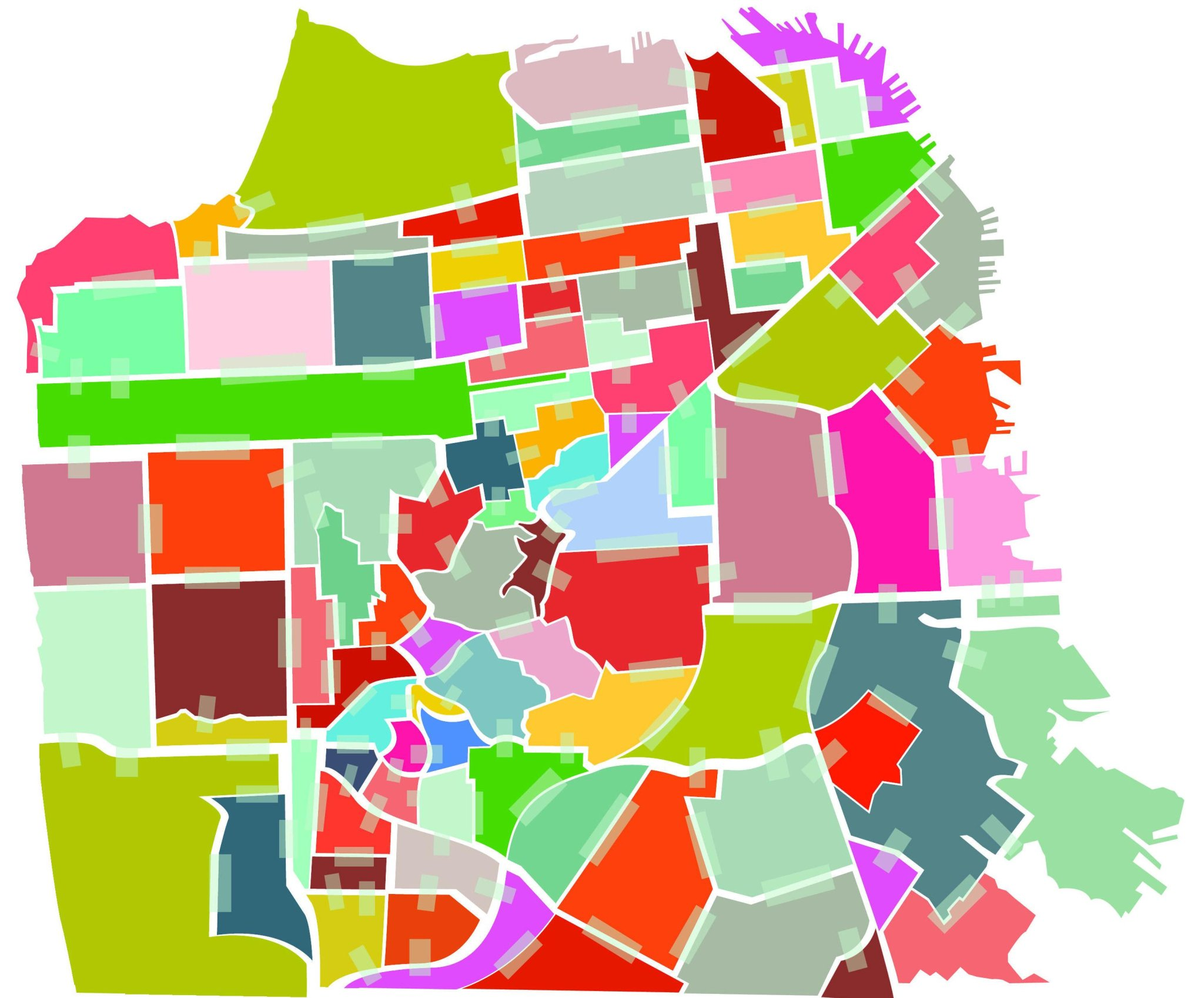 S F Neighborhoods Change Names To Map Out New Identity Sfgate