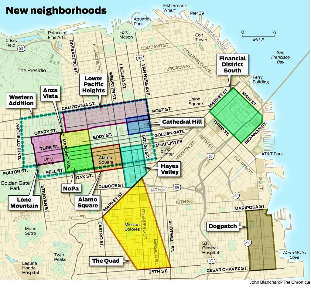 SF neighborhoods change names to map out new identity SFGate