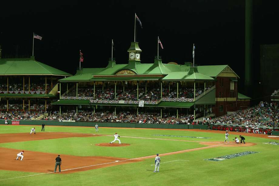 The Sydney Cricket Ground provides a stately venue for the opening game of the major league season Saturday. Photo: Cameron Spencer, Staff / 2014 Getty Images