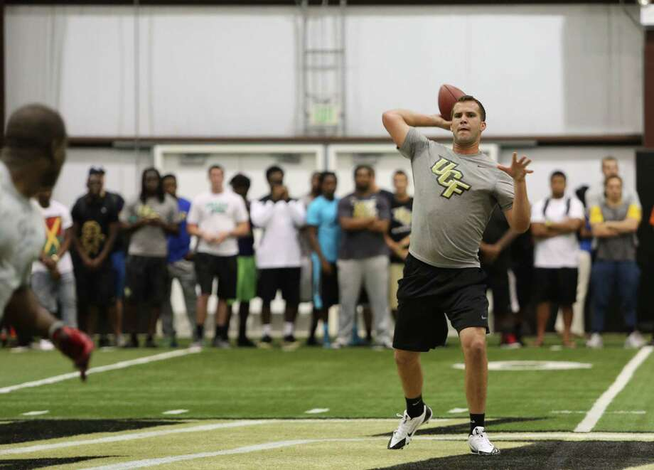 By all accounts, Blake Bortles turned in an impressive pro-day workout Wednesday on Central Florida's campus. But will it improve his draft stock? Photo: Gary W. Green, Staff Photographer / Orlando Sentinel