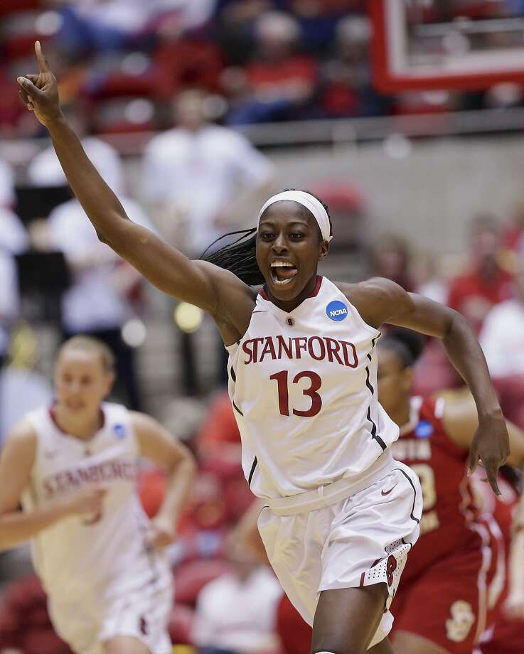 Chiney Ogwumike (13) scored 23 points, below her average of 26.8 but enough to ease past Candice Wiggins as Stanford's career scoring leader. Photo: Nati Harnik, Associated Press