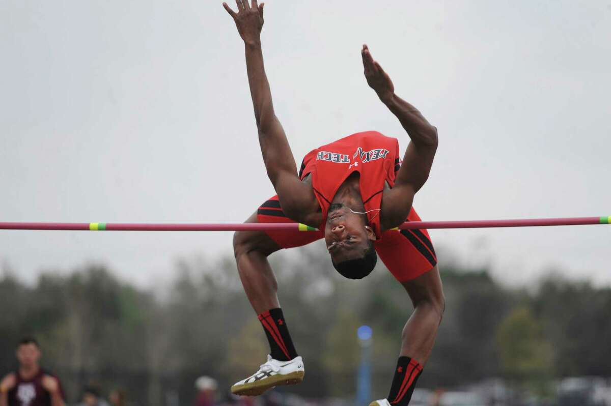 Jacorian Duffield placed second in the high jump during the UTSA Texas Challenge Invitational at Park West on Saturday, March 22, 2014. Duffield attended Randolph High School. The track event included athletes from UTSA, Houston, Texas, Texas A&M, Texas A&M-Corpus Christi and Texas Tech.