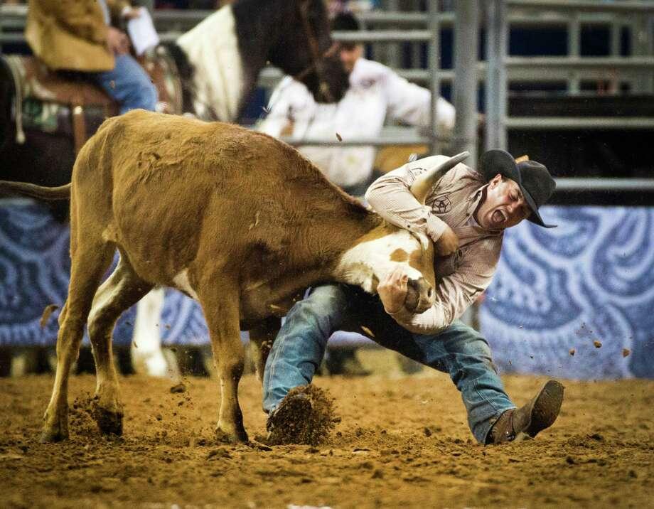 Olin Hannum wins the RodeoHouston BP Super Series Championship, Saturday, March 22, 2014. Photo: Marie D. De Jesus, Houston Chronicle / © 2014 Houston Chronicle