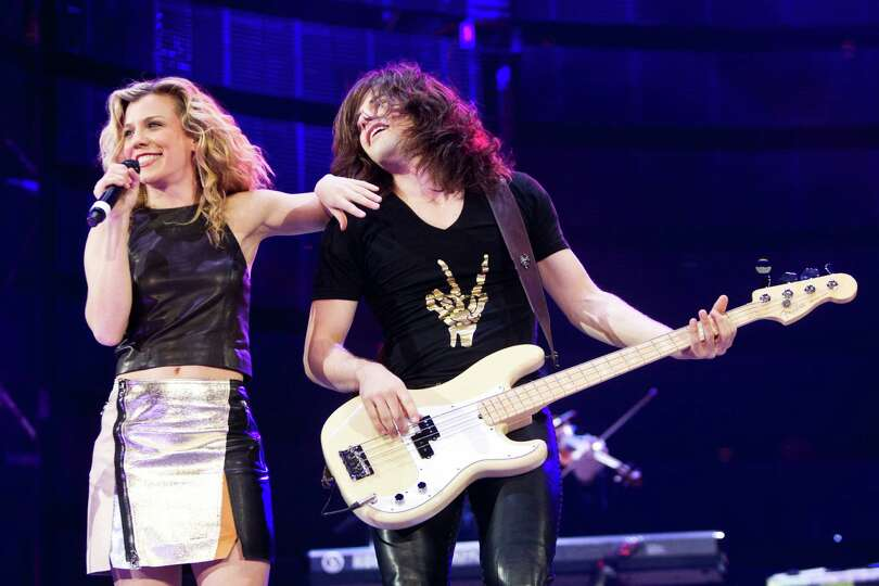 The Band Perry performs at Reliant Stadium during the Houston Livestock Show and Rodeo, Saturday, Ma