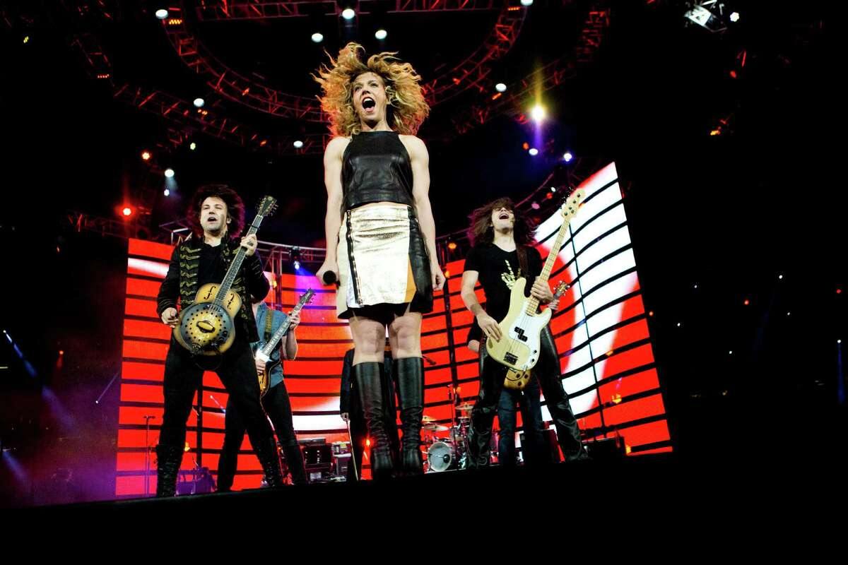 The Band Perry shows its zeal Saturday to a crowd of nearly 74,000 at Reliant Stadium during the Houston Livestock Show and Rodeo.