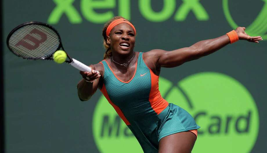 Serena Williams, of the United States, returns to Caroline Garcia, of France, at the Sony Open tennis tournament in Key Biscayne, Fla., Saturday, March 22, 2014. (AP Photo/Alan Diaz) ORG XMIT: FLAD115 Photo: Alan Diaz / AP