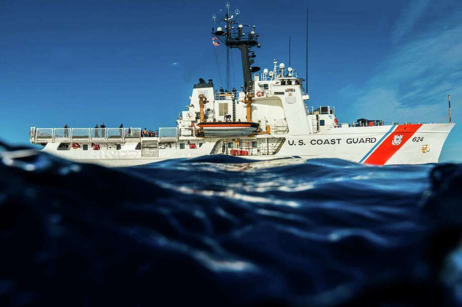 The Coast Guard Cutter Dauntless, underway in the Caribbean Sea.  The 210-foot ship, which is based out of Galveston, has distinguished itself for the amount of drugs it has captured.Related stories: 