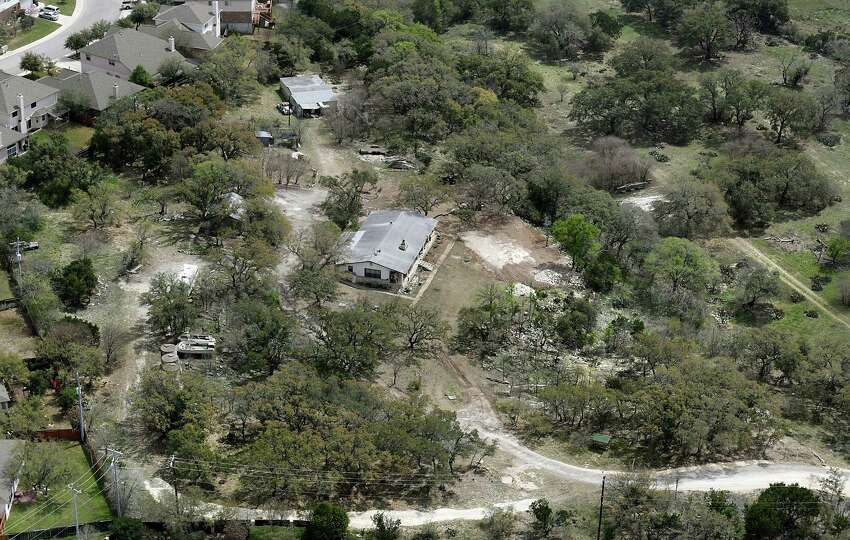 The home and property of Petti Ebrahimi the 3rd top water user in the San Antonio Water System, Friday, March 21, 2014.