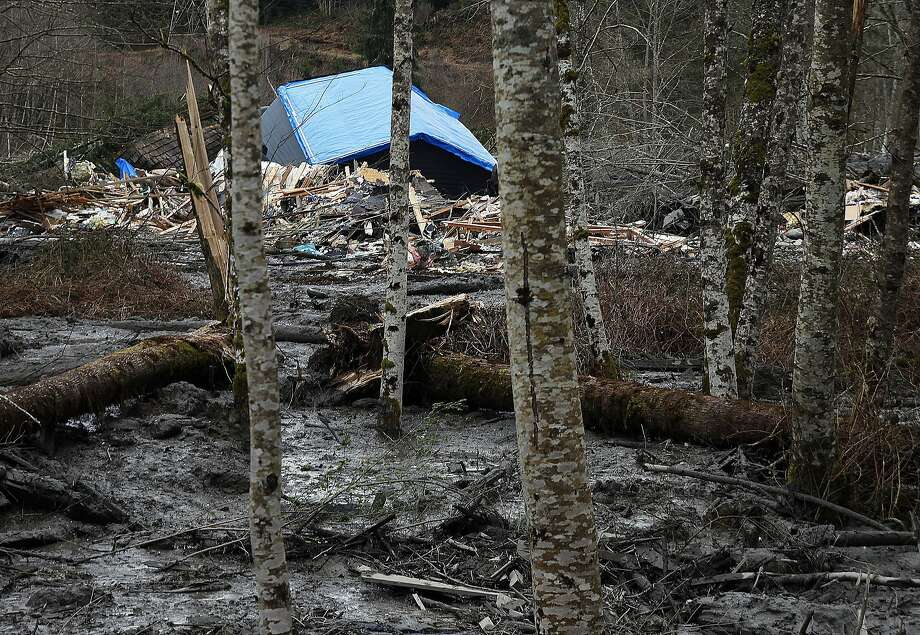 A fatal mudslide brought debris down the Stillaguamish River near Oso, Wash., Saturday, March 22, 2014, stopping the flow of the river and destroying several homes. (AP Photo/The Herald, Genna Martin) Photo: Genna Martin, Associated Press