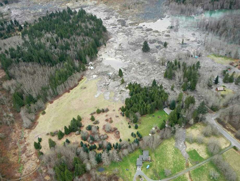 The scene of a massive landslide is shown after it destroyed homes, killed at least three people and created a dam on the North Fork of the Stillaguamash River. Photographed on Saturday, March 22, 2014. Photo: Snohomish County, Handout Photo / handout photo