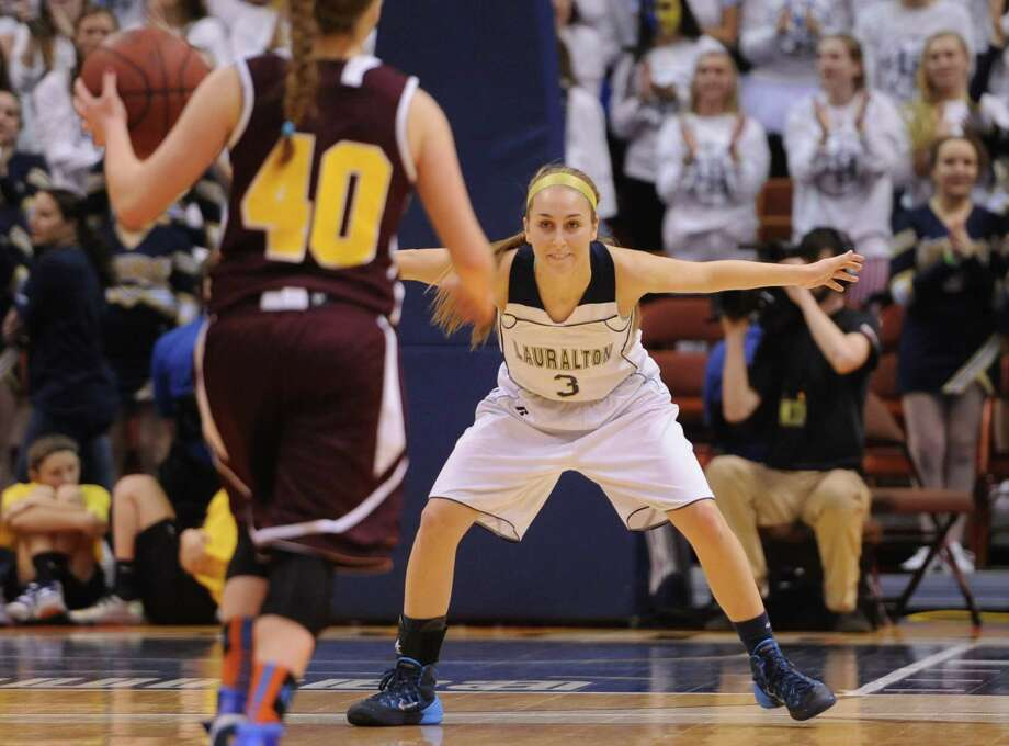 Photos from No. 2 Laurelton Hall's 68-53 win over No. 4 South Windsor in the CIAC Class LL high school girls basketball state championship game at Mohegan Sun Arena in Uncasville, Conn. on Saturday, March 22, 2014. Photo: Tyler Sizemore / The News-Times