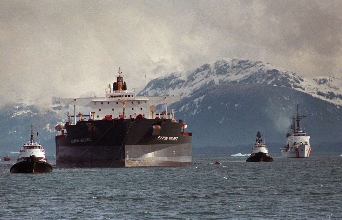 On March 24, 1989 the single-hulled oil tanker, Exxon Valdez ran aground in Alaska's Prince William Sound, spilling 11 million gallons of crude.Though double-hulled tankers were mandated for use by the EU in 2002, Exxon sailed the Valdez in Asian waters (under a different name by a subsidiary company) until 2008.She was scrapped in 2012 by her then Chinese owners.