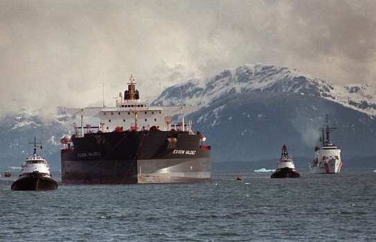 On March 24, 1989 the single-hulled oil tanker, Exxon Valdez ran aground in Alaska's Prince William Sound, spilling 11 million gallons of crude.Though double-hulled tankers were mandated for use by the EU in 2002, Exxon sailed the Valdez in Asian waters (under a different name by a subsidiary company) until 2008.She was scrapped in 2012 by her then Chinese owners. Photo: Al Grillo, ASSOCIATED PRESS / AP1989