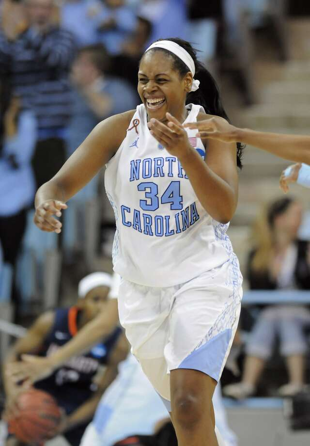 North Carolina's Xylina McDaniel did a little bit of everything to help the Tar Heels win. Photo: Liz Condo, Reuters