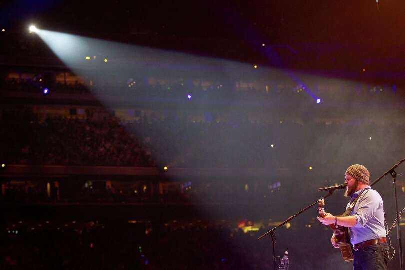 Zac Brown of The Zac Brown Band performs during RodeoHouston in Reliant Stadium Sunday, March 23, 20